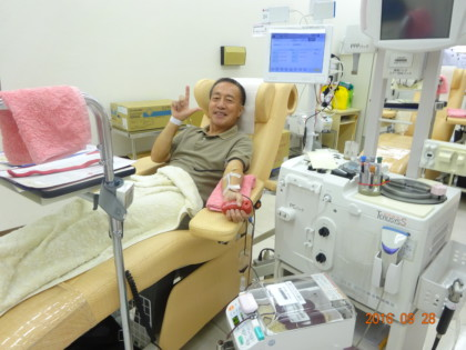 42回目の献血をしてゴキゲンな筆者